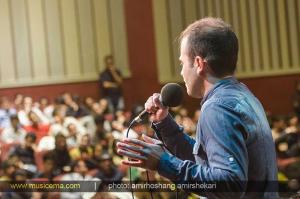 اجرای مهدی یراحی در شصت و هفتمین نشست عصر شعر وترانه