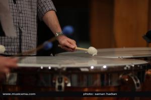 تمرین آنسامبل پرکاشن تهران برای اجرا در سالن رودکی