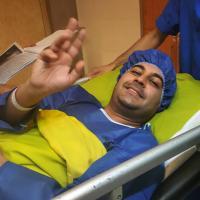 بهنام صفوی در بیمارستان