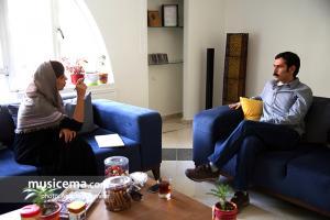 گفت و گو با «سید وحید حسینی» کارگردان مستند «بزم رزم» در دفتر سایت «موسیقی ما»