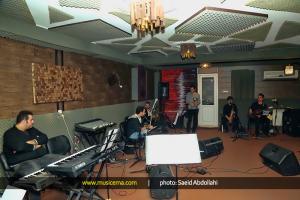 تمرین میثم ابراهیمی و گروهش برای کنسرت - دی 1394