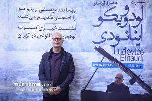 لودوویکو اینائودی : نشست خبری کنسرت