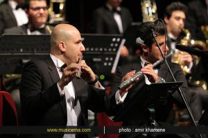 اجرای ارکستر بادی تهران در جشنواره رنگ موسیقی (خرداد 1393)
