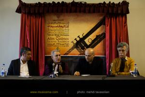 نشست خبری اجرای ارکستر بادی تهران با همراهی عالیم قاسم اف