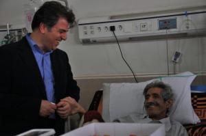 محمدعلی شیرازی در بیمارستان بستری شد